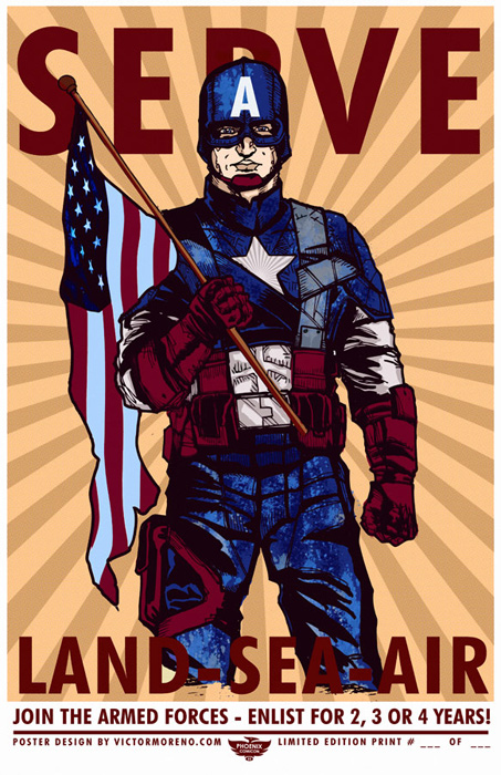 Captain america propaganda